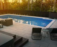 Modern Backyard Pool in Ottawa