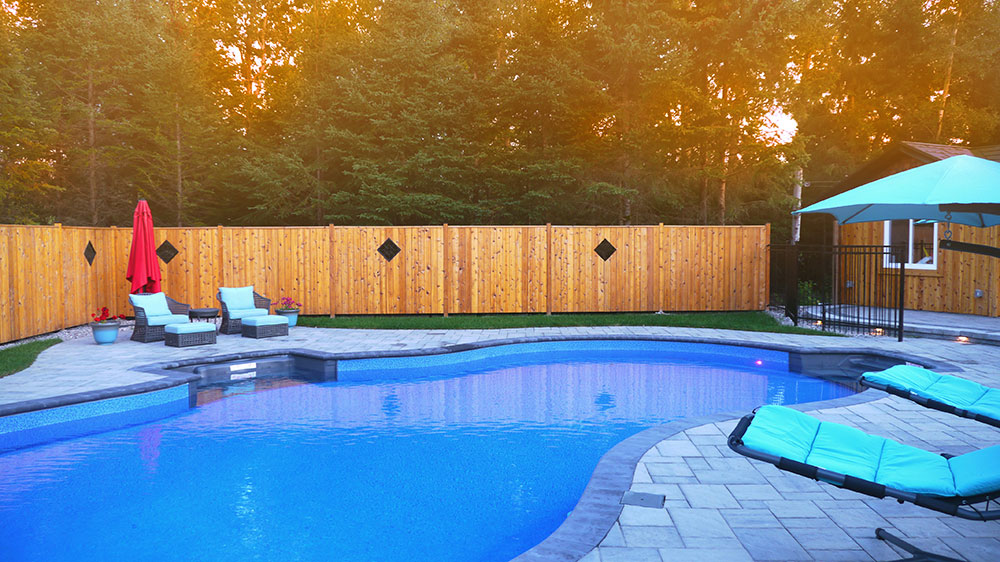 Pool landscaping in Kemptville/Ottawa area
