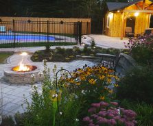 Luxury backyard landscaping