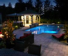 Pool Landscape Lighting by Exact landscapes Ottawa