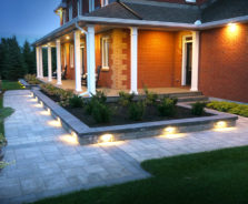 Walkway Landscaping and lighting in Ottawa